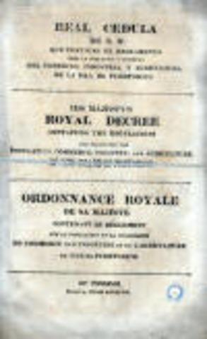 Real Cédula de Gracia-1815