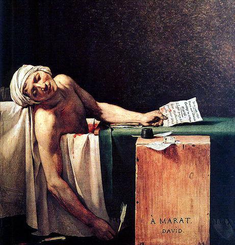 Second political assassination: the death of Marat