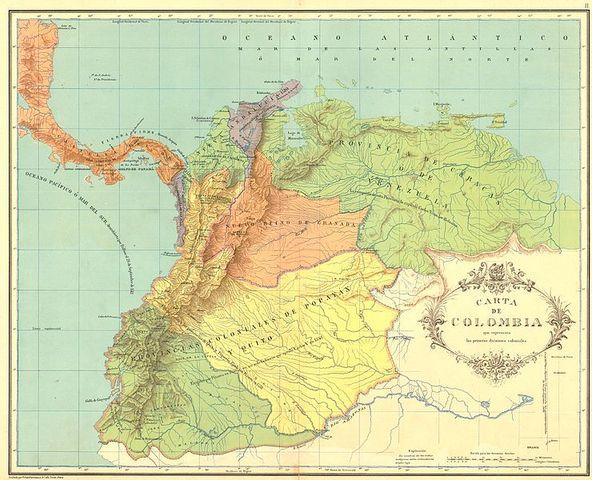 PRIMERAS DIVISIONES TERRITORIALES EN COLOMBIA