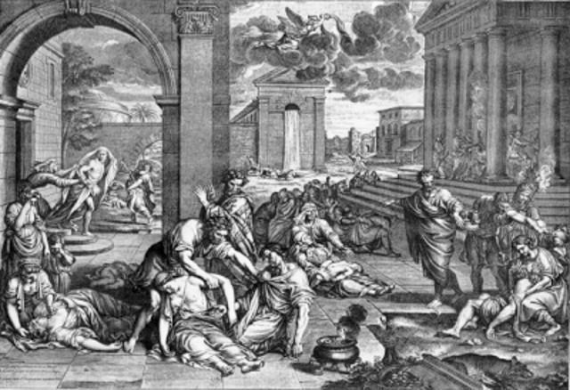 La peste negra azota Europa