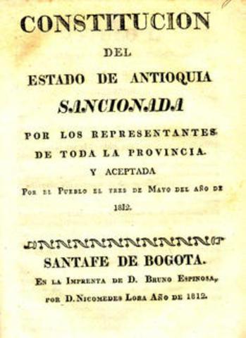 CONSTITUCION DEL ESTADO DE ANTIOQUIA - RIONEGRO