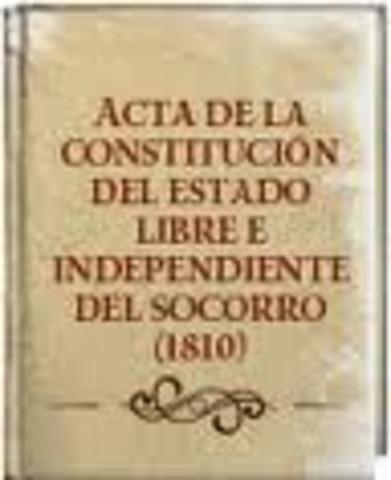 CONSTITUCION DEL ESTADO LIBRE E INDEPENDIENTE DEL SOCORRO