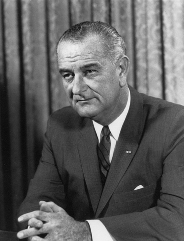 Lyndon B. Johnson was born.