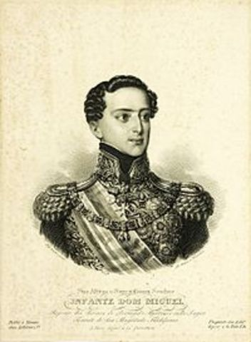 Sublevação de infante D.Miguel,em Vila Fraca de Xira (Vila Francada). A Constituição é abolida, e o regime absoluto é restabelecido.