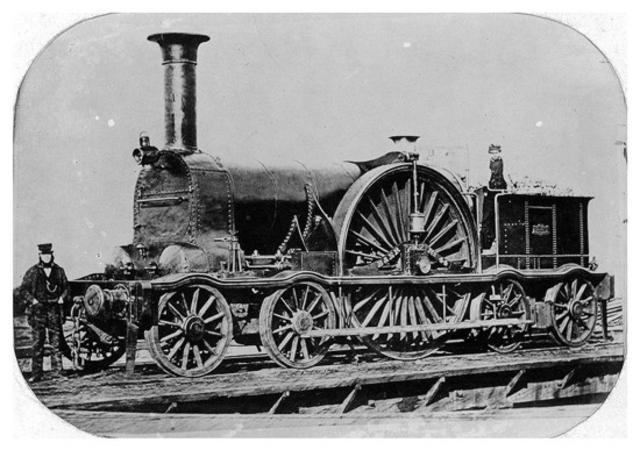Steam Locomotive that Runs on Timber Rails