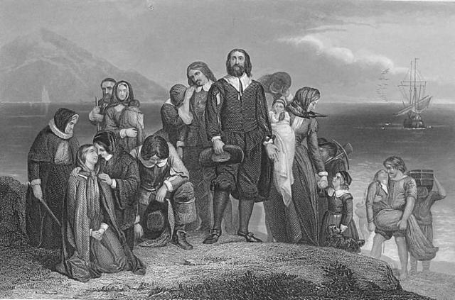 Pilgrims arrive at Plymouth