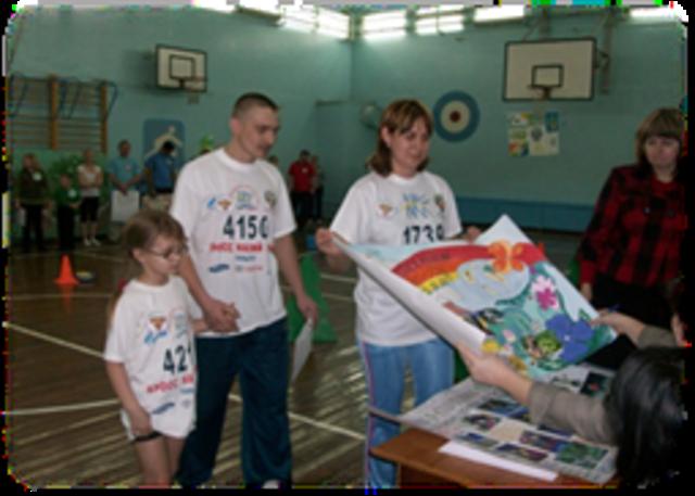 Достижение воспитанницы в спортивно-экологическом фестивале семейных команд