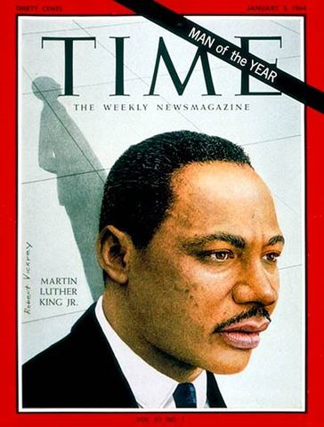 Martin Luther King, Jr. is named Man of the Year by Time.