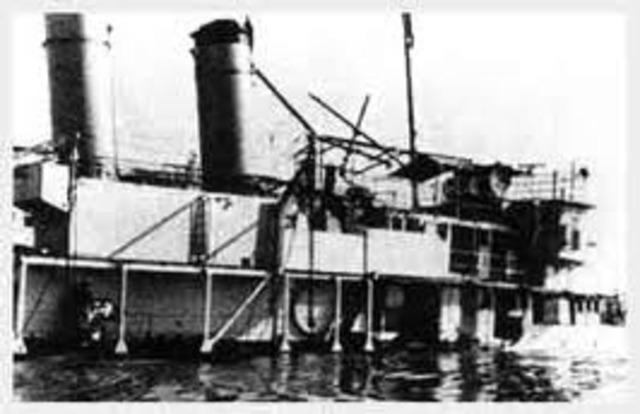"Japan sinks the ""Panay"" ship"