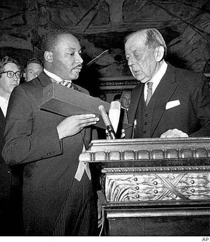 Martin Luther King, Jr. receives Nobel Peace Prize.