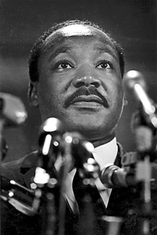 "Martin Luther King, Jr. delivers ""I've Been to the Mountain Top"" speech."