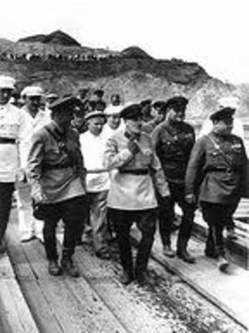 Work on the Moskow-Volga Canal starts, employing forced labor