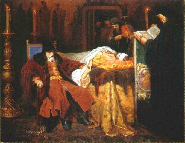 Czar the Terrible kills his oldest son