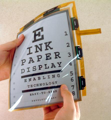 Tinta electrónica o e-paper