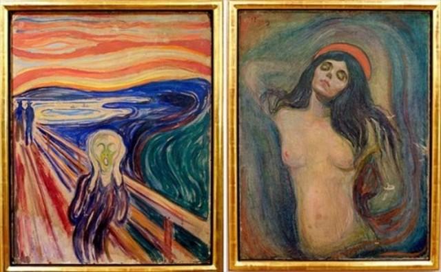 из Музея Эдварда Мунка украдены несколько ценных картин, среди которых и шедевры художника - Крик и Мадонна