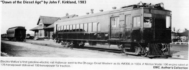 Beginning of the Gas-Electric Rail Cars