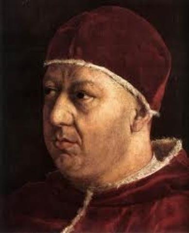 Pope Leo X (1475-1521) Sells Indulgences