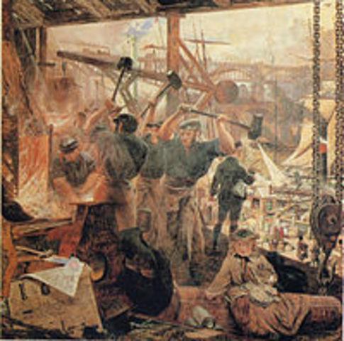 The Industrial Revolution began.