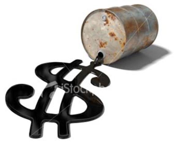 Disminución del petróleo considerablemente