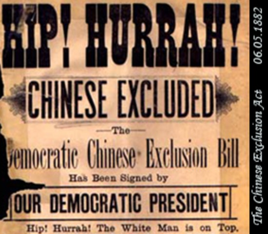 Congress passes the Chinese exclusion act