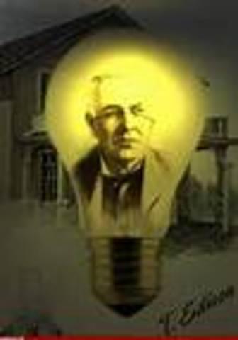Thomas Edison invents light bulb
