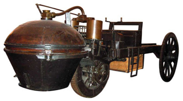 First Car invented (Steam Powered)