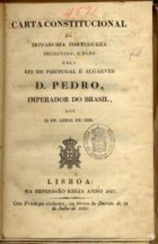 A Carta Constitucional é publicada em Lisboa.