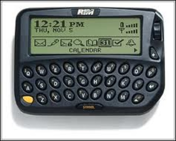 First blackberry device