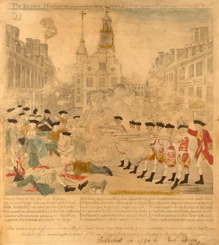 Paul Revere's Boston Massacre Engraving