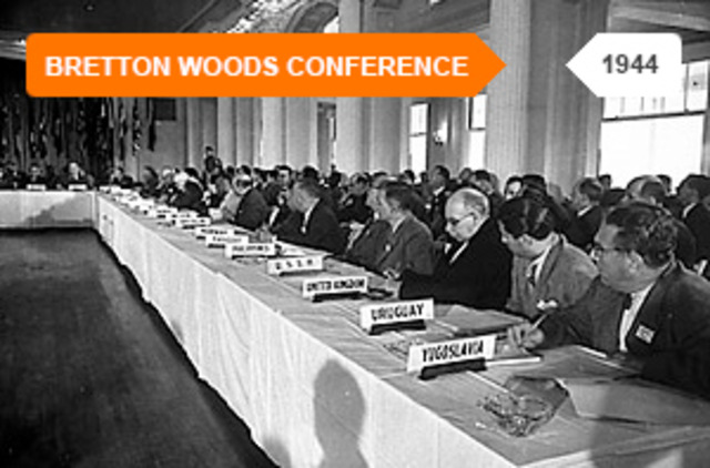 World Event: Bretton Woods system was created