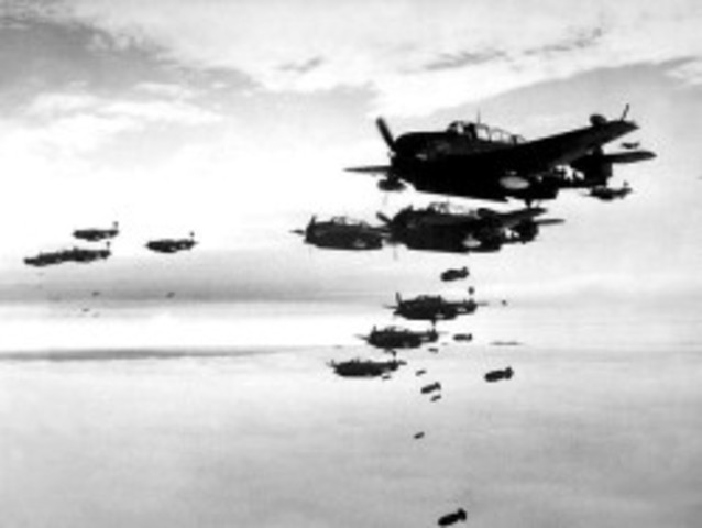 WWII Events: USA bombs Japan