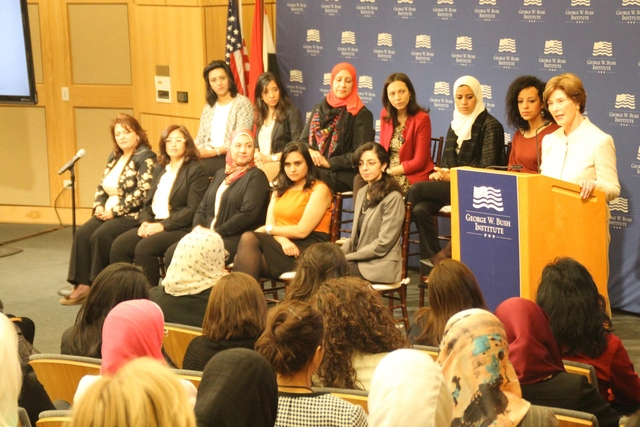 Laura Bush supports women's equality, Fellowships at SMU