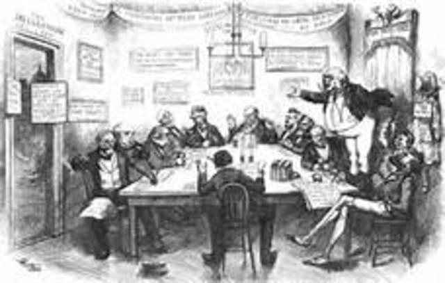 Liberal Republicans break with Grant