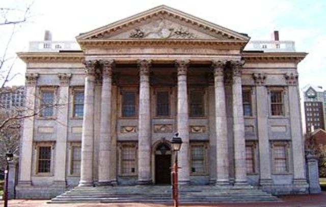 First bank in the United States was established