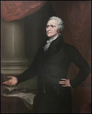 Hamilton as Secretary of Treasury