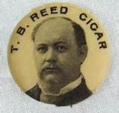 """Thomas B. """"Czar"""" Reed becomes Speaker of the House of Representatives"""