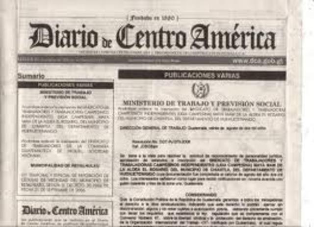 DIARIO DE CENTRO AMERICA