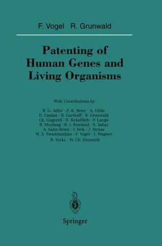1ST patent on a living organism