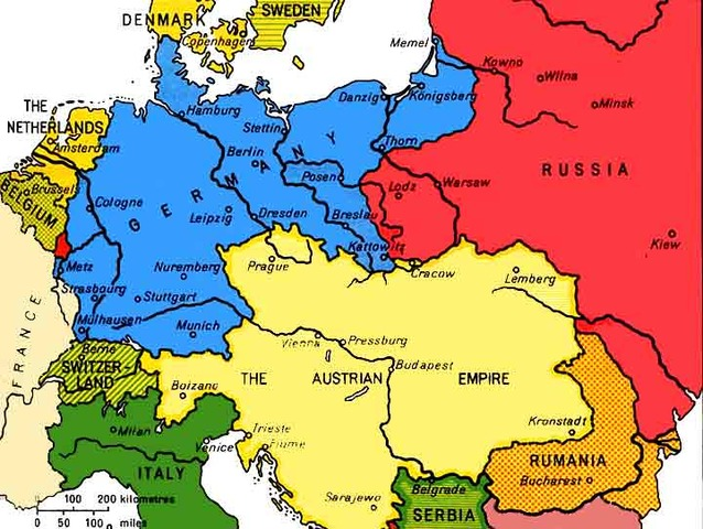 Austria-Hungary declares war on Russia and Serbia declares war on Germany