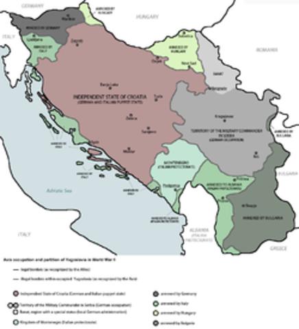 Germany invades Yugoslavia and Greece.