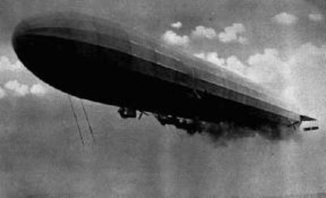 First Zeppelin raid on Britain