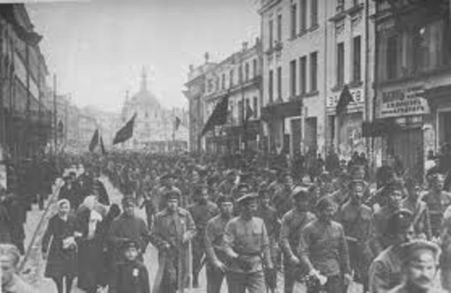 Bolsheviks overthrow Russian Government