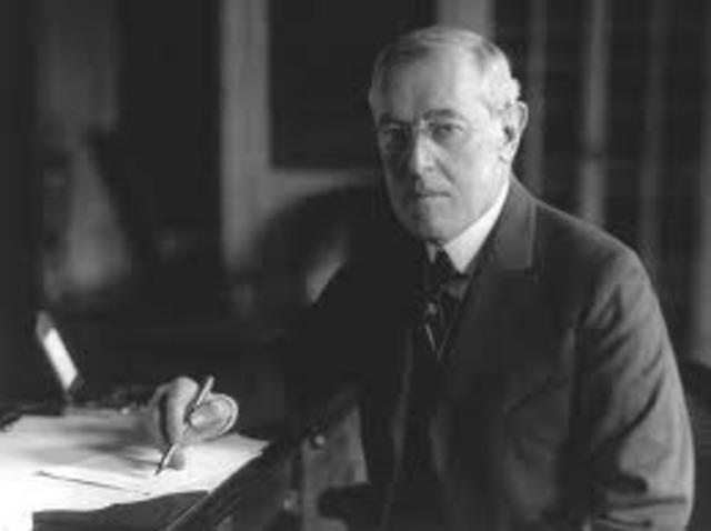 Woodrow announces his 14 points for peace