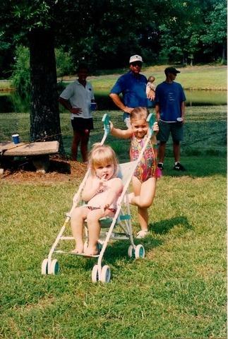 Cousin and best friend Caroline was born