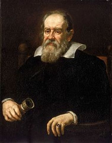 """Galileo publishes his many findings in """"Dialogue Concerning the Two Chief World Systems."""