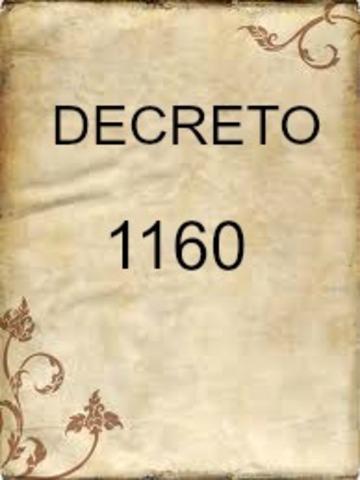 DECRETO 1160 DE 1994