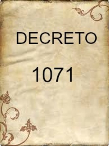 DECRETO 1071 DE 1995