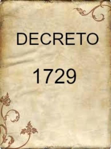 DECRETO 1729 DE 1994