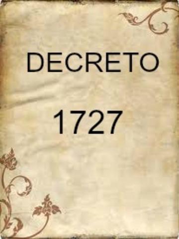 DECRETO 1727 DE 1994