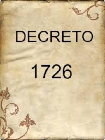 DECRETO 1726 DE 1994